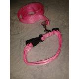 Collar  Y Paseador Para  Perros  Ajustable Para Talla