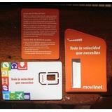Sim Card Chip Prepago Gsm Movilnet