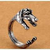 Anillo Con Forma De Perro Mascota Dachshund Terrier Bulldog