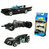 Juguetes Batman 3-pack Hotwheel Economico Carrito De Metal