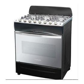 Cocina A Gas Premium Inagua 32'' Negra 6 Hornillas Tienda F