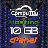 Web Hosting Y Dominio (.ve), Cpanel -10gb De Espacio X Mes