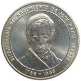 Moneda Plata Bicentenario Nacimiento José María Vargas 1986