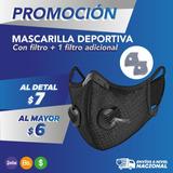 Mascarilla Deportiva Tapabocas Con Filtron95  Doble Valvula