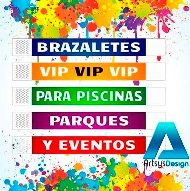f44864190d84 Brazaletes Personalizados Tyvek Cumpleaños Fiestas Eventos Bs.F.88500 WP4yV  - Precio D Venezuela