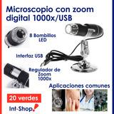 Microscopio Digital X1000 Usb Electrónica Zoom , Con Base