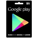 Google Play Card Apps Juegos Libros Music Saldo Recarga Gift