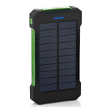Cargador Power Bank Solar 20000mah 2 Usb  Linterna Luz Led