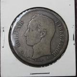 Muy Buena Moneda Fuerte O Venezolano De 1876