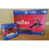 Sony Ps4 Slim, 1tb + Consola Spiderman