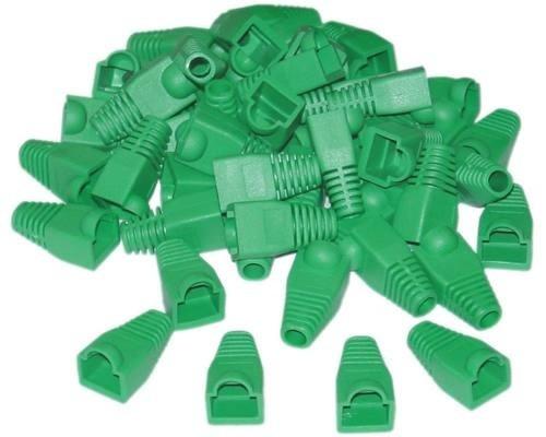 Botas Para Conectores Rj45 Bolsa De 100 Colores Rojo, Verde