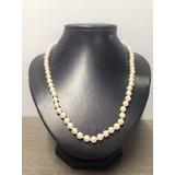 988181c61882 Hermoso Collar De Perlas Bisutería Pedrería Artesanía