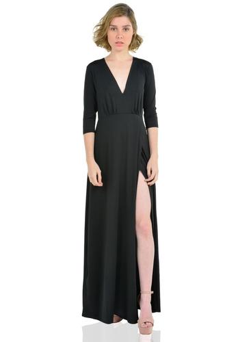b21fda3de9 Vestidos Mujer Aishop Largo Manga Larga