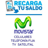 Recarga De Saldo Movistar Movil Fijo Internet Y Tv Satelital
