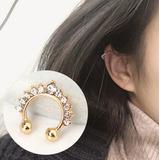 Zarcillo Solitario Ear Cuff Trepadores Accesorios Moda Clip