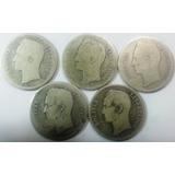Set D 5 Monedas 1bs. Plata.1921-1926-1935-1936-1945. Lei 835
