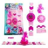 Reloj Tipo Lego Para Niñas De My Little Pony