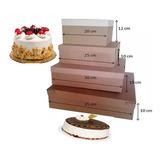 Caja Para Torta  Marrón 35 * 35 Cm Somos Tienda.(1 Und)