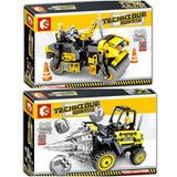 Armable Tipo Lego City Aplanadora Technic Aplanadora Taladro
