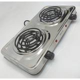 Cocina Electrica 2 Hornillas Cromada 110v Nuevas