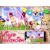 Invitacion Digital Cumpleaños Unicornio Video Invitacion