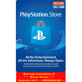 Play Station Store De 10 Hasta 100 Psn Ps3 Ps4 Psvita Gift C