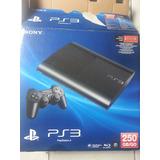 Playstation 3 Super Slim 250 Gb De 5 Juegos Originales