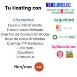 Hosting, Cpanel, Dominio, Hospedaje Web Ilimitado, Plan/mes