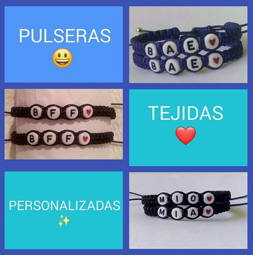 d5a754d07a81 Pulseras Tejidas Personalizadas - Amor Y Amistad!! - Pareja