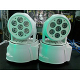 Cabezal Movil Wash Led Rgbw De 7x8w Linea White