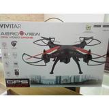 Drone Vivitar Cuadricoptero, Full Hd, Video En Vivo Y Gps
