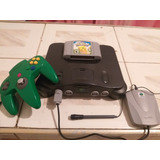 Nintendo 64 Pikachu Y Microfono Impecables Como Nuevos