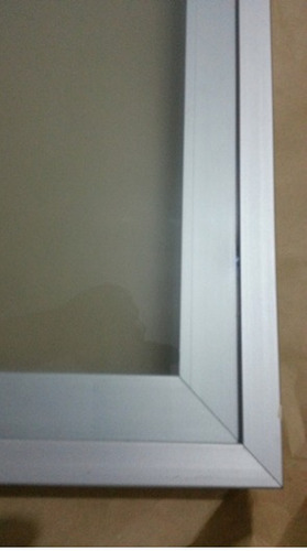 Perfil Aluminio Puertas De Vidrio 2cm Cocina Empotradas