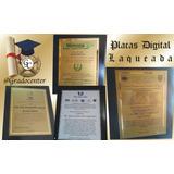 Placas De Reconocimiento Acrilicos Diplomas Gradocenter