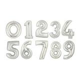 Globos Numeros Metalizados 40cms Combo X 2 Unidades