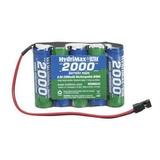Batería 6 Volts 2000mah Nimh Pack Hydrymax Hobbico. 45 Vrdes