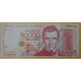 Billete 50.000 Bs 2005 Serial Bajo Reposición Super Dificil