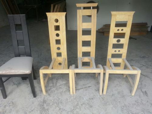 sillas modernas comedor tapizadas madera precio bsf 9500000 ver en mercadolibre - Sillas Modernas De Comedor