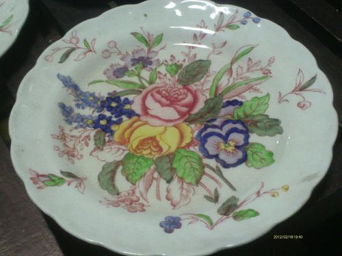 Plato de porcelana marca booths con dibujo de flores for Marcas de porcelana