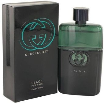 Perfume Original Gucci Guilty Black Por Homme 90 Ml 2d328fcac24