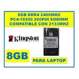 Memoria 8gb Ddr4 2400mhz Sodimm Laptop Kingston Kvr24s17s8/8