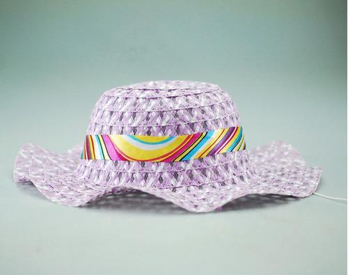Gorros Playeros Sombreros Niñas Cubre Cabeza Tapa Sol Nuevo 12602bb1db7