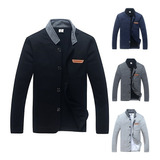 Sweter Chaqueta Casual Slim Fit By Plutonio