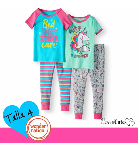 375b4447 Pijamas De Niña Talla 4 Oferta Wonder Nation Carters