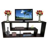 Muebles Modulares Color Negro En L Centro Tv, Dvd