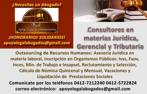 Abogado Laboral - Outsourcing Rrhh - Incluye Cálculo Nómina
