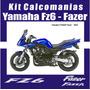 Kit Calcomanias Moto Fz6- Fazer Diferentes Años