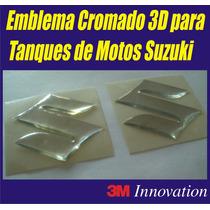 Emblemas Cromado 3d Tanques De Motos Suzuki Gsx R Hayabusa