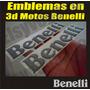 Kit Emblemas 3d Para Motos Benelli