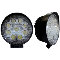 Faro 9 Led Ollo 6500k 27w Rustico Jeep Toyota Expansion Cree
